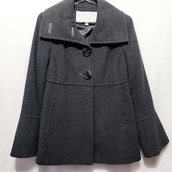 Gray Cowl Collar Pea Coat*Jessica Simpson*Sz S*